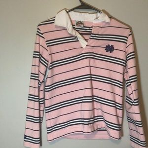 Pink /blue/ white rugby long sleeve